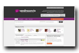 screenshot de www.vendresonvin.fr