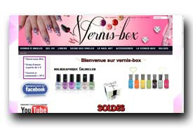 screenshot de www.vernis-box.com