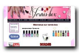 screenshot de www.vernis-box.com