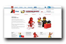 screenshot de vip.lego.com