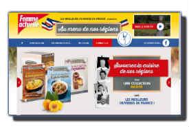 screenshot de www.aumenudenosregions.fr