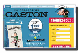 screenshot de www.collection-gaston.com
