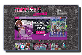 screenshot de www.collection-monsterhigh.fr