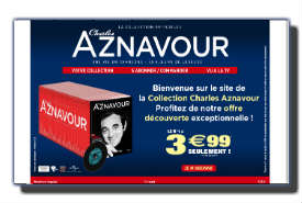 screenshot de www.collectionaznavour.com