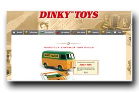 screenshot de www.collectiondinkytoys.fr