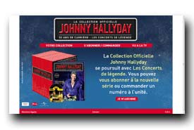 screenshot de www.collectionjohnny.com