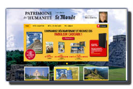 screenshot de www.collectionpatrimoinelemonde.fr