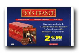 screenshot de www.collectionroisdefrance.com