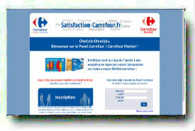 screenshot de www.satisfaction-carrefour.fr