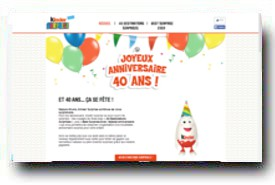 screenshot de www.surprise.kinder.fr