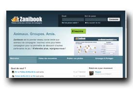 screenshot de www.zanibook.com
