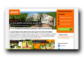 screenshot de www.albelli.fr