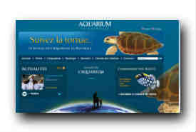 screenshot de www.aquarium-larochelle.com