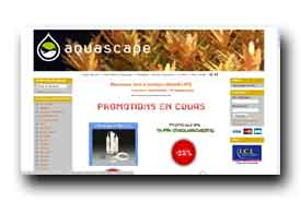 screenshot de www.aquascape-boutique.fr