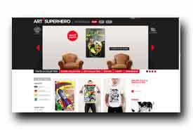 screenshot de www.artsuperhero.com