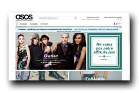 screenshot de www.asos.fr