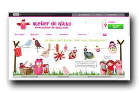 screenshot de www.atelier-de-kitty.com
