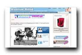 screenshot de www.avenuebebe.fr