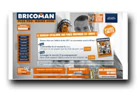 screenshot de www.bricoman.fr