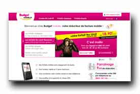 screenshot de www.budgetmobile.fr