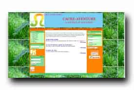 screenshot de www.cache-aventure.com