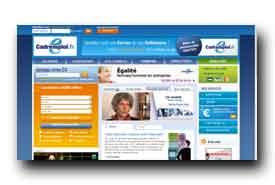 screenshot de www.cadremploi.fr