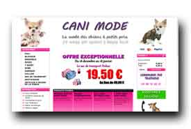 screenshot de www.cani-mode.com