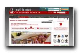 screenshot de www.carnetdecuisine.com