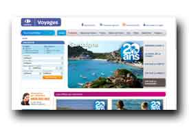 screenshot de www.carrefourvacances.fr