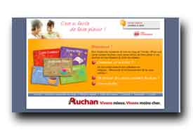 screenshot de www.cartecadeau.auchan.fr
