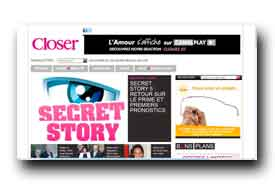 screenshot de www.closermag.fr