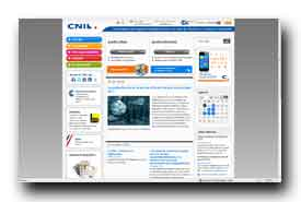 screenshot de www.cnil.fr