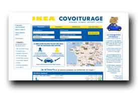 screenshot de www.covoiturage.ikea.fr