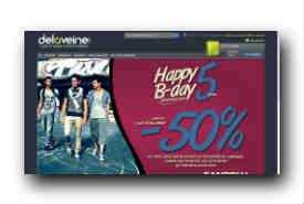 screenshot de www.delaveine.com