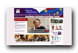 screenshot de www.diplomatie.gouv.fr