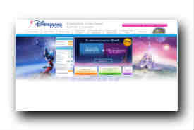 screenshot de www.disneylandparis.fr
