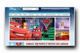 screenshot de www.disneystore.fr