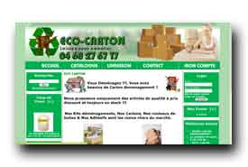 screenshot de www.ecocarton.fr