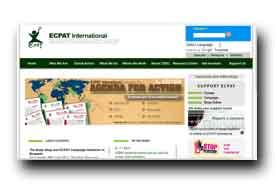 screenshot de www.ecpat.net