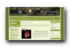 screenshot de www.espagne-gourmet.com