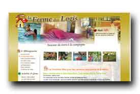 screenshot de www.fermedeslogis.fr
