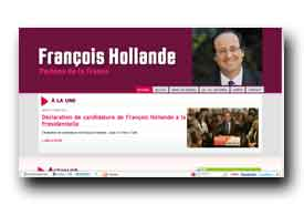 screenshot de www.francoishollande.fr