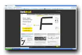 screenshot de fontstruct.fontshop.com