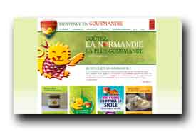 screenshot de www.gourmandie.fr