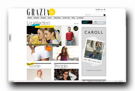 screenshot de www.grazia.fr