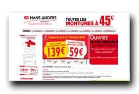 screenshot de www.hansanders.fr
