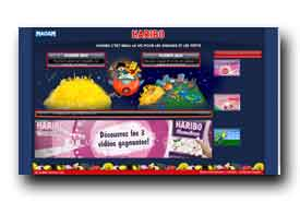 screenshot de www.haribo.com
