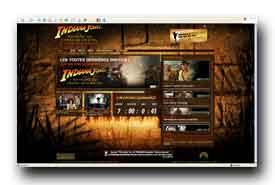 screenshot de www.indianajones.com/intl/fr/site/