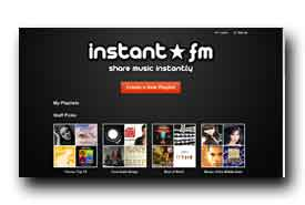 screenshot de www.instant.fm