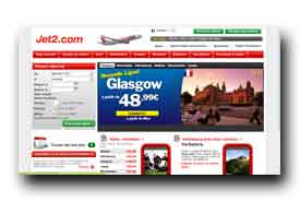 screenshot de www.jet2.com